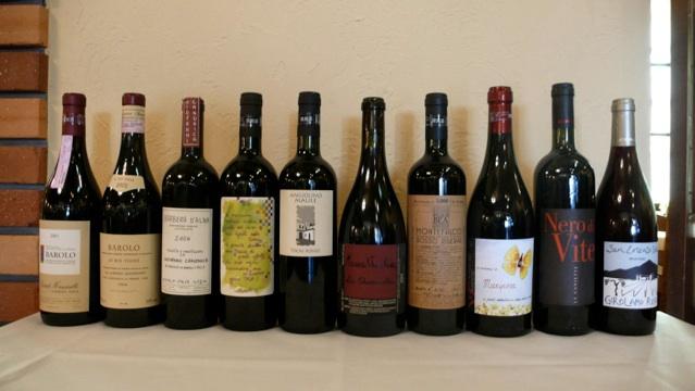 ワイン:単一品種のワインがメインで全てビオディナミ、ビオロジックで造られたものばかり